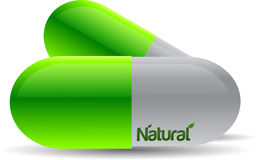 Natural pills Stock Image
