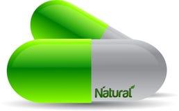 Natural pills stock illustration