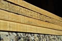 Natural pine wood plank texture. Grain, cover. Isolated on black background stock photos