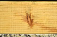 Natural pine wood plank texture. Grain, cover. Isolated on black background stock photography