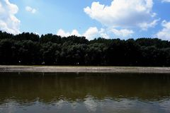 Natural places on the Danube arms. Downstream on the Borcea arm stock photo