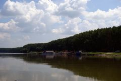 Natural places on the Danube arms. Downstream on the Borcea arm stock photos