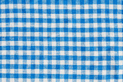 Natural Plaid Fabric Abstract Background Texture, Blue And White Royalty Free Stock Photo