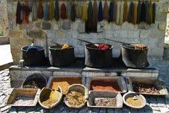 Colors. Natural plant pigments - Turkey. Colors. Natural plant pigments in Turkey royalty free stock image