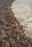 Natural plowed field. Royalty Free Stock Photos
