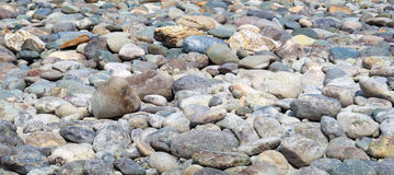 Natural Polished Pebble or Gravels Stock Image
