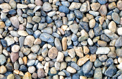 Natural Polished Pebbles or Gravels Stock Image