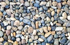 Natural Polished Pebbles or Gravels. Natural Polished Pebble or Gravel Background Stock Image