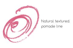Natural pomade art design elements of lipstick. Natural pomade art design elements with curves, lines, abstract textured shapes for creating of banners and Stock Photos