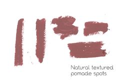 Natural pomade art design elements of lipstick Stock Photography
