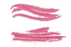Natural pomade art design elements of lipstick. Natural pomade art design elements with curves, lines, abstract textured shapes for creating of banners and Stock Photo
