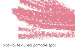 Natural pomade banner background with raw grunge texture of cosmetics. Stock Photography