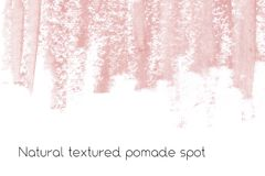 Natural pomade banner background with raw grunge texture of cosmetics. Royalty Free Stock Image
