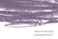 Natural pomade banner background with raw grunge texture of cosmetics. Stock Image
