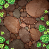 Natural pond top view Royalty Free Stock Photography