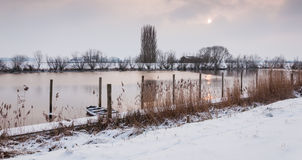 Natural pond in winter Royalty Free Stock Photography