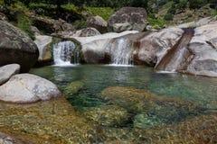 Natural pool at Chia gorge in Gredos Stock Photo