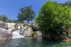 Natural pool at Chia gorge in Gredos Stock Photos