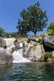 Natural pool at Chia gorge in Gredos Stock Image