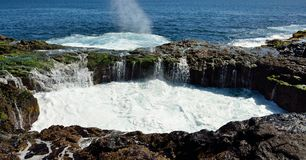 Natural pool in full effervescence, Bufadero La garita, Canary islands Royalty Free Stock Image