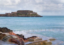 Natural Pool in Guernsey Royalty Free Stock Photography