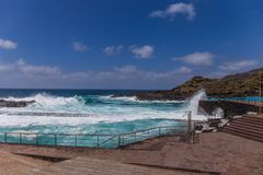 Natural pool in Mesa del Mar, Tenerife, Canary Islands, Spain royalty free stock images