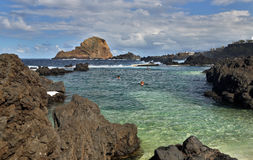 Natural pool in Porto Moniz (Madeira) Stock Images