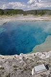 Natural pool in Yellow Stone park Royalty Free Stock Image