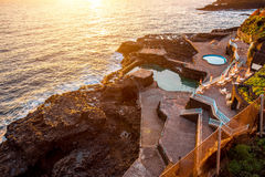 Natural pools in Charco Azul on La Palma Royalty Free Stock Images