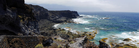Natural pools Charco Los Sargos, El Hierro, Canary, Spain. Royalty Free Stock Photos