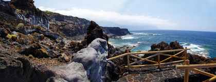 Natural pools Charco Los Sargos, El Hierro, Canary, Spain. Royalty Free Stock Images