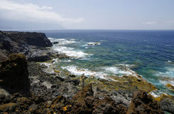 Natural pools Charco Los Sargos, El Hierro, Canary, Spain. Stock Photography