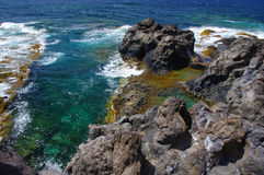 Natural pools Charco Los Sargos, El Hierro, Canary, Spain. Stock Photos