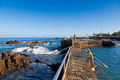 Natural Pools In Puerto De La Cruz, Tenerife Royalty Free Stock Photos