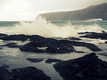 Natural pools, mosteiros, azores Royalty Free Stock Images