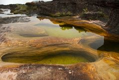 Natural pools, Mount Roraima Stock Images
