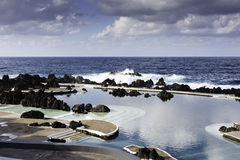 Natural pools in Porto Moniz, Madeira Stock Images