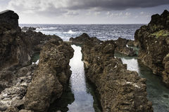 Natural pools in Porto Moniz, Madeira Royalty Free Stock Image