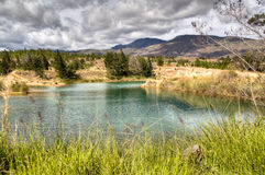 Natural pools in Villa de Leyva Royalty Free Stock Photo