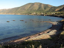 Natural port. The nature port of Pomos in Cyprus stock photo