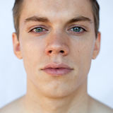 Natural portrait. With available light of a young man Royalty Free Stock Photography