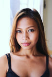 Natural portrait,Beautiful Asian girl smiling. Native Asian beauty. Asian woman Stock Images