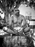 Natural portrait of a brahmin pandit Royalty Free Stock Photos