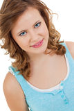 Natural portrait of a pretty young woman Stock Image