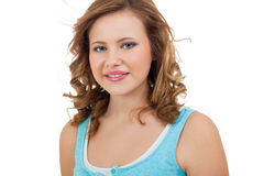 Natural portrait of a pretty young woman Royalty Free Stock Images