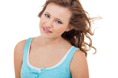Natural portrait of a pretty young woman Stock Photos