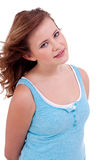 Natural portrait of a pretty young woman Royalty Free Stock Photography