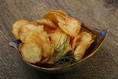 Natural potato chips royalty free stock images