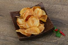 Natural potato chips stock photos