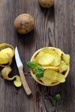Natural potato chips stock image